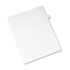 Avery® Allstate-Style Legal Exhibit Side Tab Divider, Title: G, Letter, White, 25/Pack