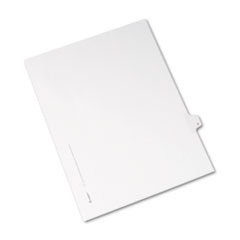 Avery® Allstate-Style Legal Exhibit Side Tab Divider, Title: H, Letter, White, 25/Pack