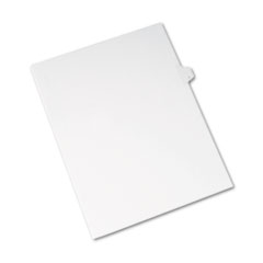 Avery® Allstate-Style Legal Exhibit Side Tab Divider, Title: I, Letter, White, 25/Pack