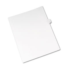 Avery® Allstate-Style Legal Exhibit Side Tab Divider, Title: J, Letter, White, 25/Pack