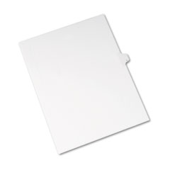 Avery® Allstate-Style Legal Exhibit Side Tab Divider, Title: L, Letter, White, 25/Pack