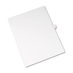 Avery® Allstate-Style Legal Exhibit Side Tab Divider, Title: M, Letter, White, 25/Pack