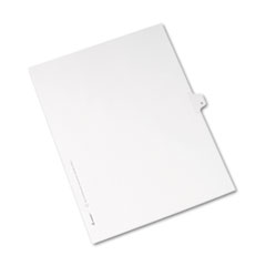 Avery® Allstate-Style Legal Exhibit Side Tab Divider, Title: N, Letter, White, 25/Pack
