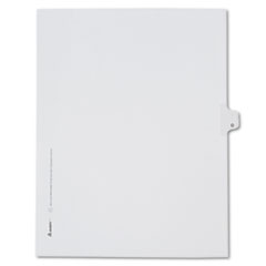 Avery® Allstate-Style Legal Exhibit Side Tab Divider, Title: O, Letter, White, 25/Pack