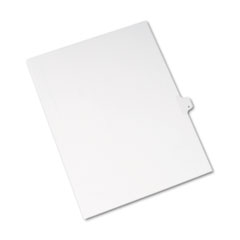 Avery® Allstate-Style Legal Exhibit Side Tab Divider, Title: P, Letter, White, 25/Pack