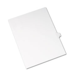 Avery® Allstate-Style Legal Exhibit Side Tab Divider, Title: Q, Letter, White, 25/Pack