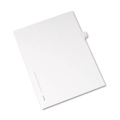 Avery® Allstate-Style Legal Exhibit Side Tab Divider, Title: R, Letter, White, 25/Pack