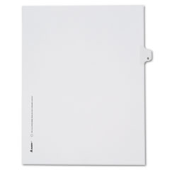 Avery® Allstate-Style Legal Exhibit Side Tab Divider, Title: S, Letter, White, 25/Pack