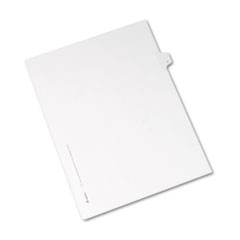 Avery® Allstate-Style Legal Exhibit Side Tab Divider, Title: T, Letter, White, 25/Pack