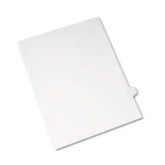 Avery® Allstate-Style Legal Exhibit Side Tab Divider, Title: U, Letter, White, 25/Pack