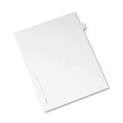 Avery® Allstate-Style Legal Exhibit Side Tab Divider, Title: V, Letter, White, 25/Pack