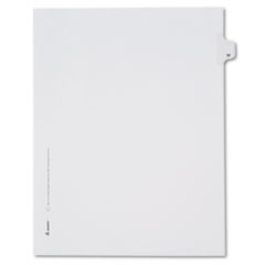 Avery® Allstate-Style Legal Exhibit Side Tab Divider, Title: W, Letter, White, 25/Pack