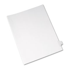 Avery® Allstate-Style Legal Exhibit Side Tab Divider, Title: X, Letter, White, 25/Pack