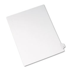 Avery® Allstate-Style Legal Exhibit Side Tab Divider, Title: Y, Letter, White, 25/Pack