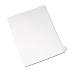 Avery® Allstate-Style Legal Exhibit Side Tab Divider, Title: Z, Letter, White, 25/Pack