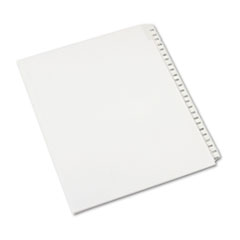 Avery® Allstate-Style Legal Exhibit Side Tab Dividers, 25-Tab, 176-200, Letter, White