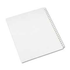 Avery® Allstate-Style Legal Exhibit Side Tab Dividers, 25-Tab, 201-225, Letter, White