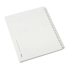Avery® Allstate-Style Legal Exhibit Side Tab Dividers, 25-Tab, 226-250, Letter, White