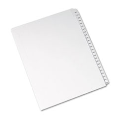 Avery® Allstate-Style Legal Exhibit Side Tab Dividers, 25-Tab, 251-275 Letter, White