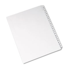 Avery® Allstate-Style Legal Exhibit Side Tab Dividers, 25-Tab, 276-300, Letter, White