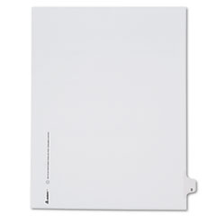 Avery® Allstate-Style Legal Exhibit Side Tab Divider, Title: 3, Letter, White, 25/Pack