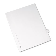 Avery® Allstate-Style Legal Exhibit Side Tab Divider, Title: 6, Letter, White, 25/Pack