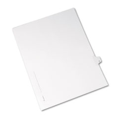 Avery® Allstate-Style Legal Exhibit Side Tab Divider, Title: 8, Letter, White, 25/Pack