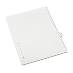 Avery® Allstate-Style Legal Exhibit Side Tab Divider, Title: 9, Letter, White, 25/Pack