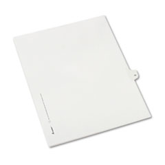 Avery® Allstate-Style Legal Exhibit Side Tab Divider, Title: 10, Letter, White, 25/Pack
