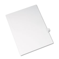 Avery® Allstate-Style Legal Exhibit Side Tab Divider, Title: 18, Letter, White, 25/Pack