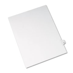 Avery® Allstate-Style Legal Exhibit Side Tab Divider, Title: 21, Letter, White, 25/Pack