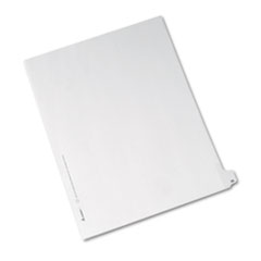 Avery® Allstate-Style Legal Exhibit Side Tab Divider, Title: 26, Letter, White, 25/Pack