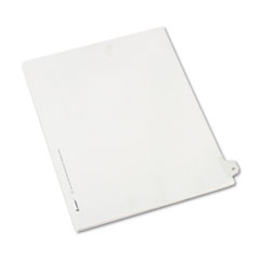 Avery® Allstate-Style Legal Exhibit Side Tab Divider, Title: 27, Letter, White, 25/Pack