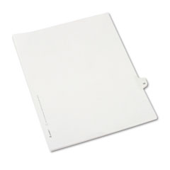 Avery® Allstate-Style Legal Exhibit Side Tab Divider, Title: 33, Letter, White, 25/Pack