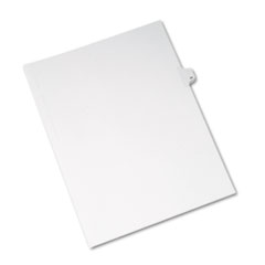 Avery® Allstate-Style Legal Exhibit Side Tab Divider, Title: 34, Letter, White, 25/Pack