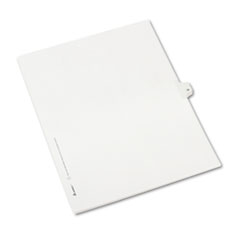 Avery® Allstate-Style Legal Exhibit Side Tab Divider, Title: 38, Letter, White, 25/Pack