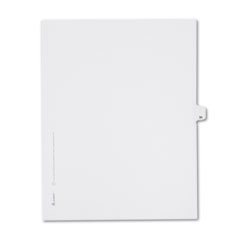 Avery® Allstate-Style Legal Exhibit Side Tab Divider, Title: 39, Letter, White, 25/Pack