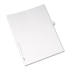 Avery® Allstate-Style Legal Exhibit Side Tab Divider, Title: 40, Letter, White, 25/Pack