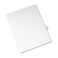 Avery® Allstate-Style Legal Exhibit Side Tab Divider, Title: 42, Letter, White, 25/Pack