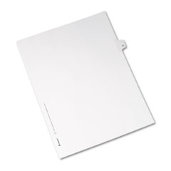 Avery® Allstate-Style Legal Exhibit Side Tab Divider, Title: 43, Letter, White, 25/Pack