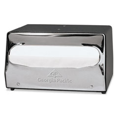 Georgia Pacific® Professional MorNap Tabletop Napkin Dispenser, 7 1/2 x 6 x 4 3/8, Black/Chrome