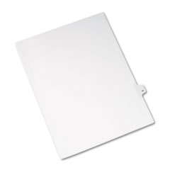 Avery® Allstate-Style Legal Exhibit Side Tab Divider, Title: 44, Letter, White, 25/Pack