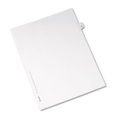 Avery® Allstate-Style Legal Exhibit Side Tab Divider, Title: 45, Letter, White, 25/Pack