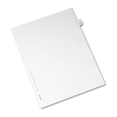 Avery® Allstate-Style Legal Exhibit Side Tab Divider, Title: 46, Letter, White, 25/Pack