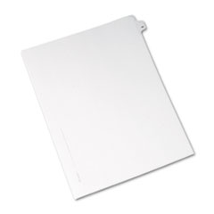 Avery® Allstate-Style Legal Exhibit Side Tab Divider, Title: 49, Letter, White, 25/Pack