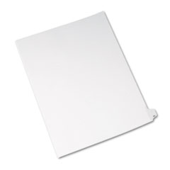 Avery® Allstate-Style Legal Exhibit Side Tab Divider, Title: 50, Letter, White, 25/Pack