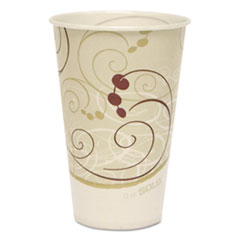 Dart® Symphony Treated-Paper Cold Cups, 12oz, White/Beige/Red, 100/Bag, 20 Bags/Carton