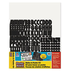 "Pacon® Make-A-Poster Board Kit, 22"" x 28"", White, 143 Letters/Numbers"