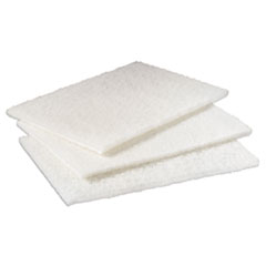 "Scotch-Brite™ PROFESSIONAL Light Duty Cleansing Pad, 6"" x 9"", White, 20/Pack, 3 Packs/Carton"