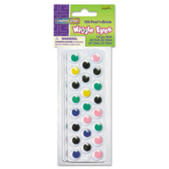 Peel N Stick Wiggle Eyes, Assorted Sizes, Assorted Colors, 125/Pack
